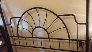 Black Wrought Iron head/foot boards for SALE
