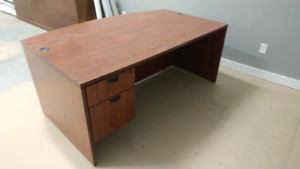 Office desk with Bow Front