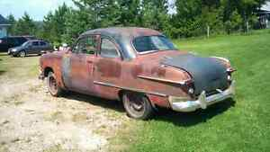 Orginal 1950 ford coupe rear glass