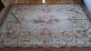 Classic aubusson floral carpet