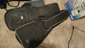2 soft  guitar cases bags great shape 15.00 each
