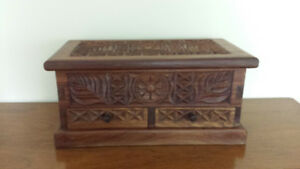 Hand carved solid wood chest Tanzania Africa $171 negotiable