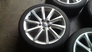 18'' Oem Volkswagen 5x112 Bolt Alloy Wheels 225/40/18 Tires