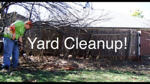 $20/hour- YARD AND GARDEN CLEANUP