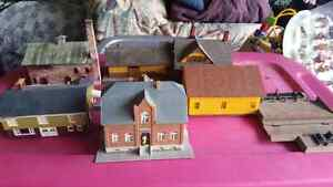 Ho scale buildings and structures trees paints