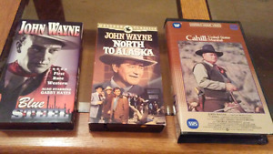 John wayne Vhs movies $20 for all