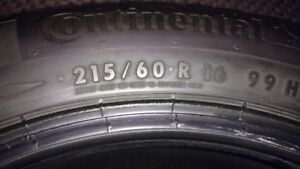 215/60R16 Continental Winter Contact SI - DECEMBER 15