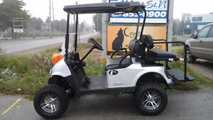 2013 EZGO RXV GOLF CART Jacked