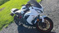 Ninja 650R 2013 blanche (2 500km)