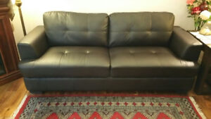 Dark Brown Leather Couch - Mint condition