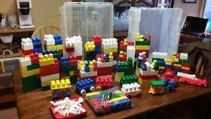 Mega Blocks with totes.