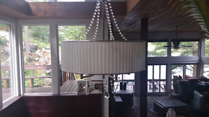 Chandelier - modern with crystal beads