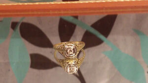 14K 1920's Art Deco Diamond Ring!!