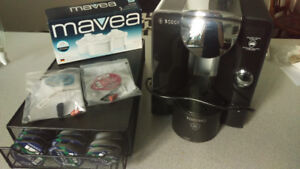 Black Tassimo T55 with storage tray, 2 new filters, 12 T-discs