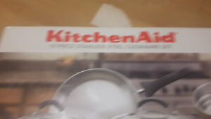 Kitchen Aid 10 piece set  pots 200.00