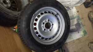 1 Brand New Steel Rim and Tire