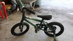 Childs Bike with training wheels attached..ages 3-6