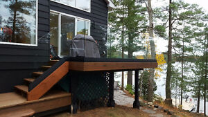 Muskoka Railings - Topless Glass, Base Shoe Railings