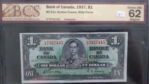 Canadian 1935 - 1 Dollar Bank Note