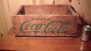 Sort # : 993 - Boite de bois Coca-Cola 1940 belle condition