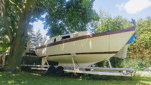 Custom build (Roberts) shallow draft keel sailboat (unfinished)