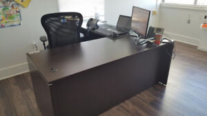 **OFFICE FURNITURE MOVING SALE** - DESKS + CHAIRS + MONITORS