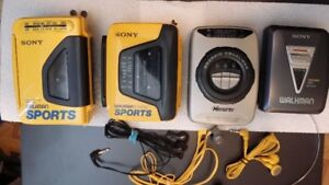 Sony Walkman Cassette AM/FM radio players Sports Walkman
