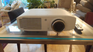 Projector and wireless kit: Watch Netflix and DVDs on your wall!