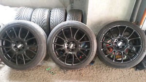 """19""""BBS Motorsports Rims with tires"""