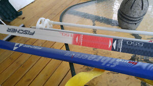 Fischer Fibercrown 600 skis in mint condition