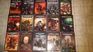 Warhammer 40k rule books & codexs 3rd-6th edt*WANT GONE*
