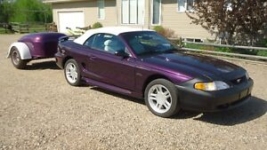 1996 mustang GT Convertible with/without 1936 Mullins Trailer