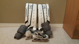 Goalie pads and skates