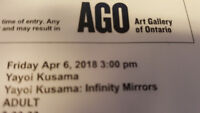 Yayoi Kusama @ AGO Friday Afternoon Tickets $100 each