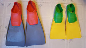Attention Swim Team Members - 2 pairs of Fins for sale