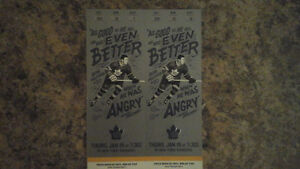 Leafs tickets vs New York Rangers, Golds (below face)