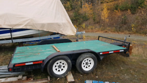 8' x 14' flat deck commercial trailer, dual axel