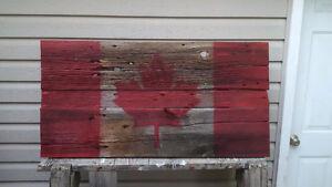Rustic Barnboard Painted Canadian flag Belleville Belleville Area image 3