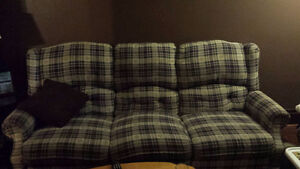 FREE - MATCHING COUCH, LOVE SEAT AND RECLINER.