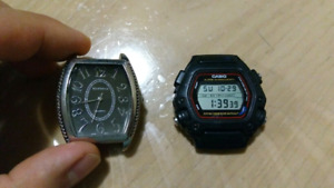 2 watches, new batteries, just need straps