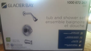 Tub and shower set