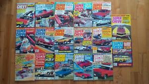 Bundle of Super Chevy Magazines from the 1980's