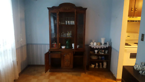 Old style wood hutch