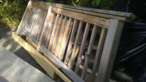 8 foot railing used solid wood