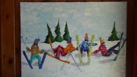 Ski themed oil paintings by local artist