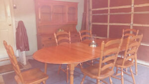 8 Piece Ruxton Maple Dinning Set 500$ Cambridge Kitchener Area image 3