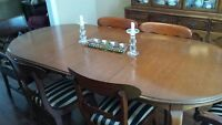 Gibbord Dining Room Table and China Cabinet