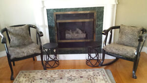 antique chair & rocker  with cushions
