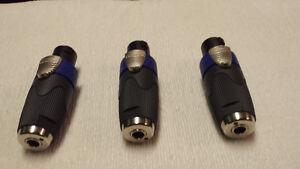 NA4LJX speakon to 1/4 inch adapters