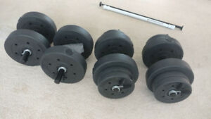 Dumbbells 40 pounds adjustable weight X2 - $35 or $60 for both